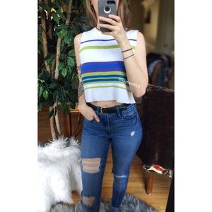 🌿 90's Vtg Cropped Sweater Tank 🌿